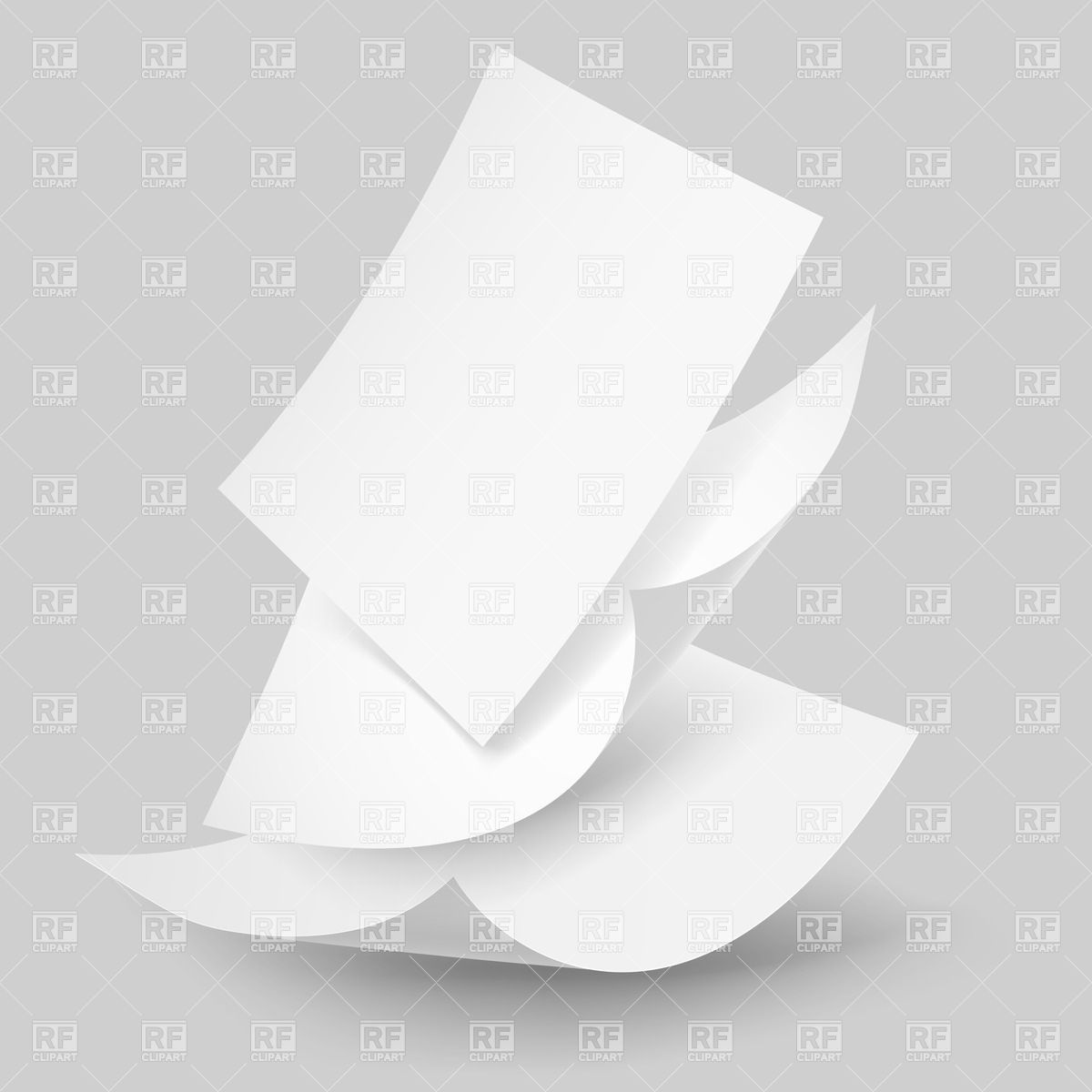 1200x1200 Blank Falling Down Paper Sheets Vector Image Vector Artwork Of