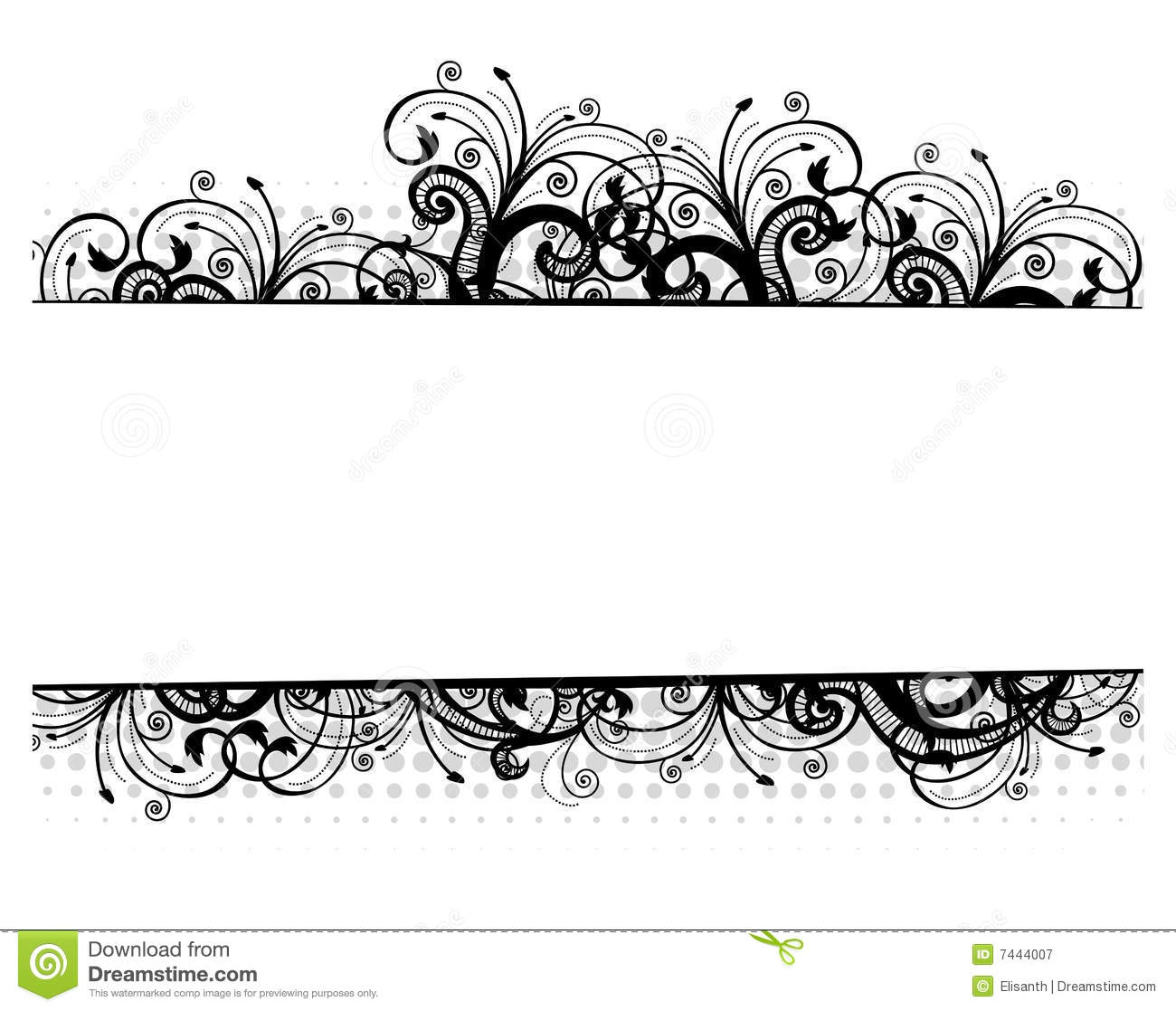 1300x1117 16 Vector Flower Black Border Images