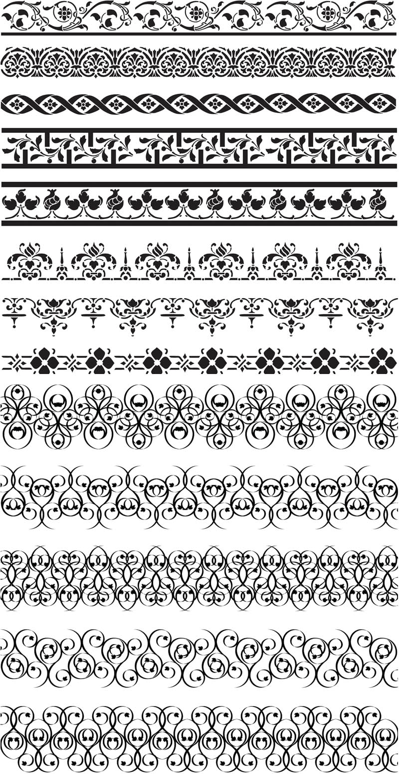 800x1550 Floral Ornate Borders Vector Vector Graphics Blog