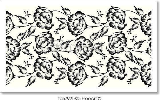 560x355 Free Art Print Of Seamless Vector Floral Border Freeart Fa57991933