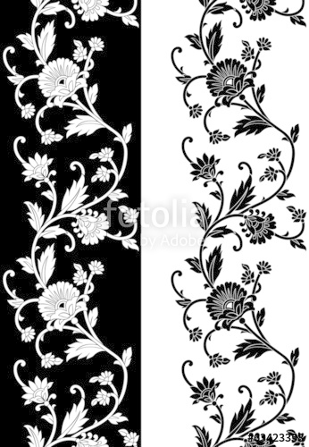 346x500 Seamless Vector Floral Border Stock Image And Royalty Free Vector