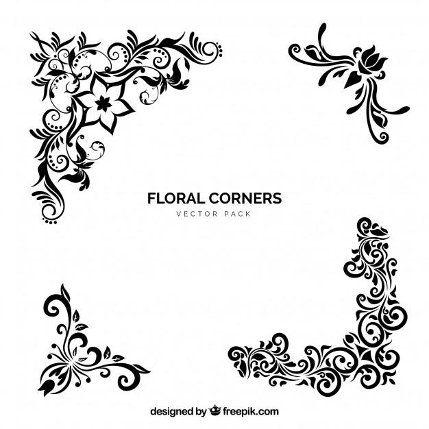 626x626 Vector Floral Corners Vector Free Download