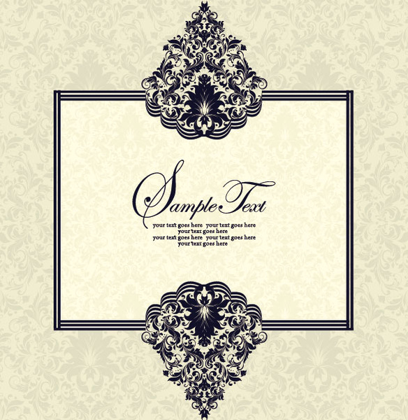 584x600 Vector Of Exquisite Vintage Floral Borders Free Vector In