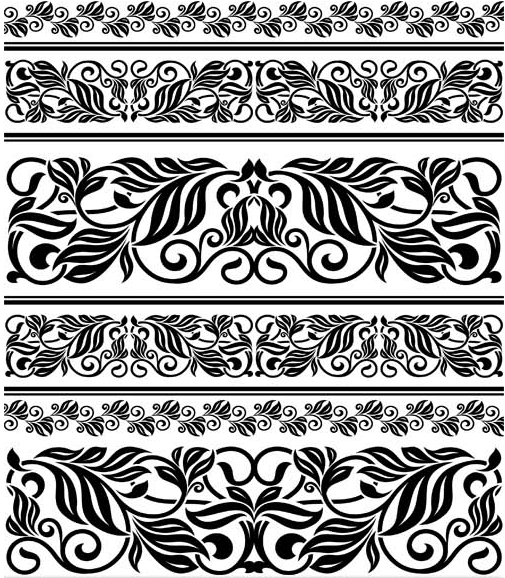 505x578 Vintage Floral Borders 5 Ai Format Free Vector Download