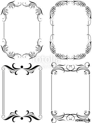 378x500 Floral Border Frame Set 8 Stock Image And Royalty Free Vector