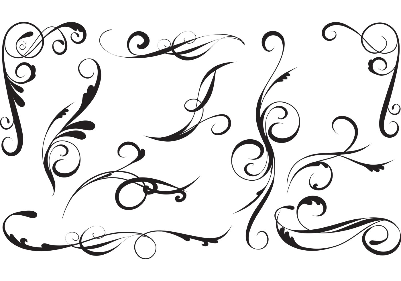 Free Vector Flourishes And Swirls