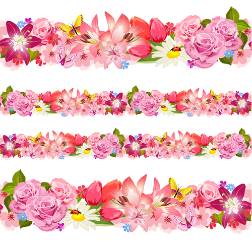 Free Vector Flower Border At Getdrawings Com Free For Personal Use