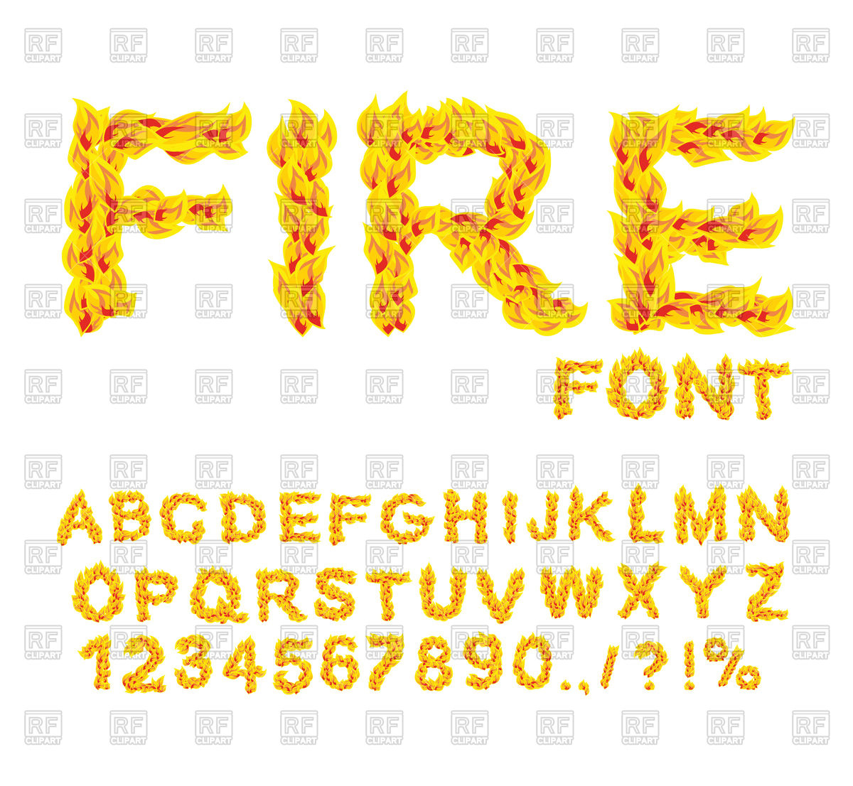 1200x1106 Fire Font, Burning Abc, Fiery Letters Vector Image Vector