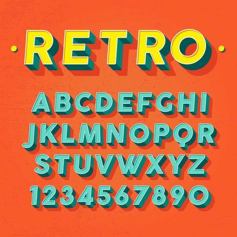 490x490 Retro 3d Font Vector
