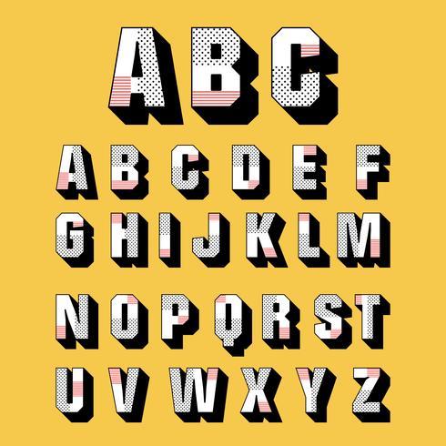 490x490 3d Fonts Vector