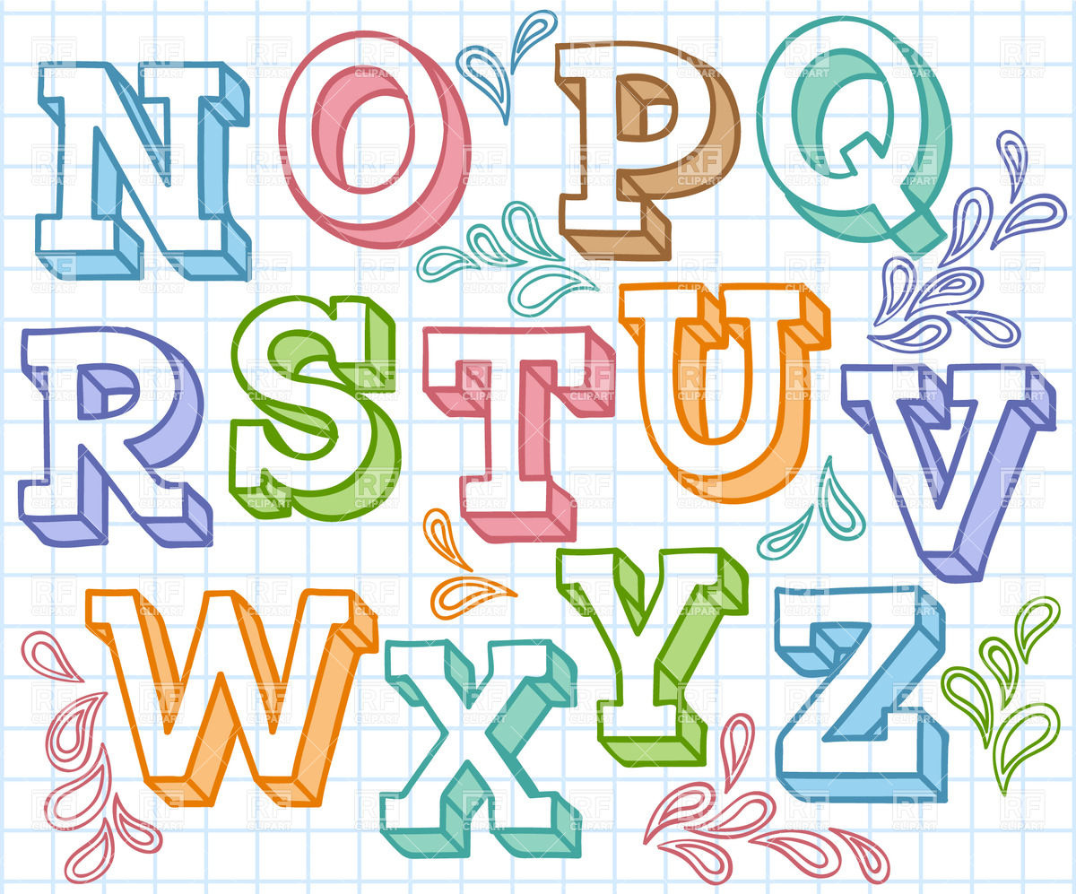 1200x997 Colorful Sketchy Font