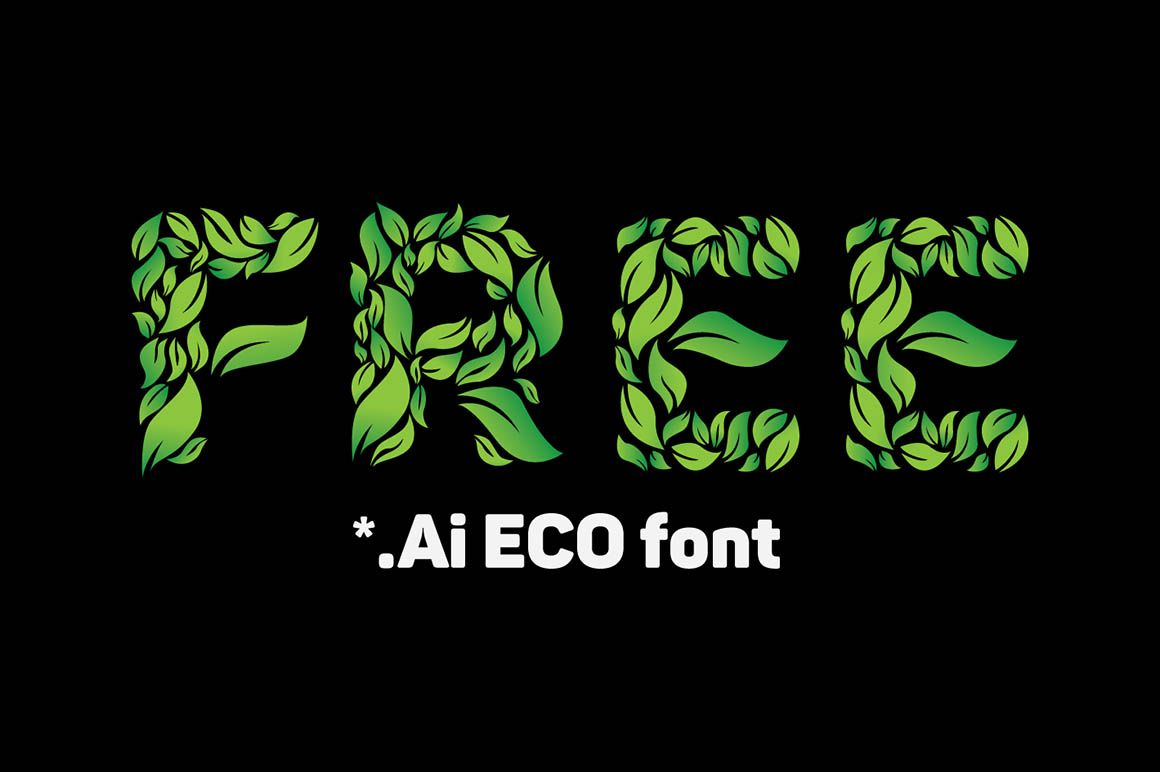 1160x772 Eco Vector Lettering Set Letter Set, Fonts And File