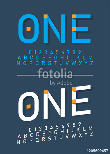 356x500 Modern Alphabet Fonts And Numbers. Typography Font With Shadow