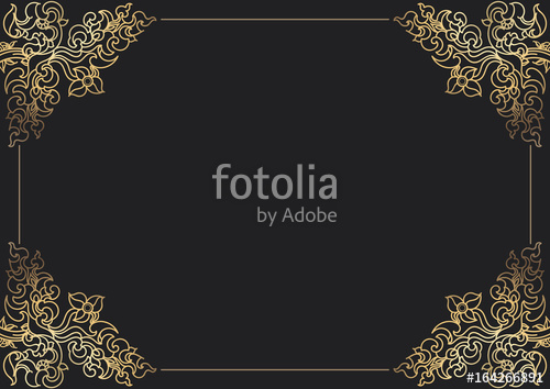 500x354 Frame Border Thai Modern Style Stock Image And Royalty Free