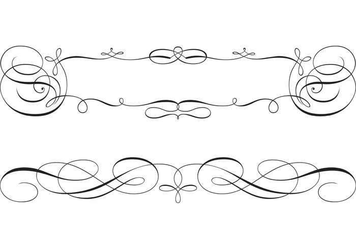700x490 Free Swirly Scroll Frame And Border Vectors