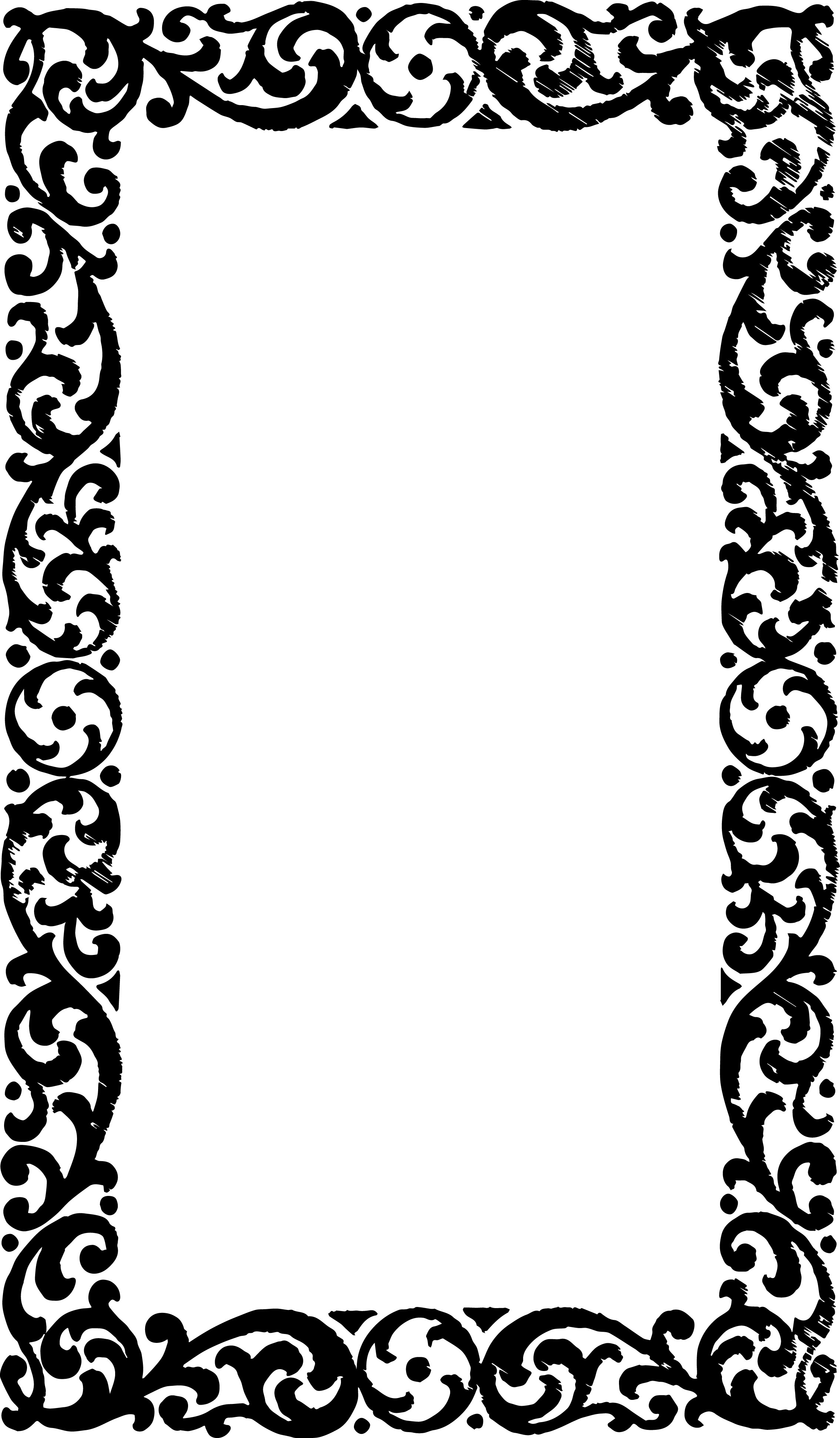 2269x3885 Free Vector Art Amp Clipart Vintage Frame Border Oh So Nifty