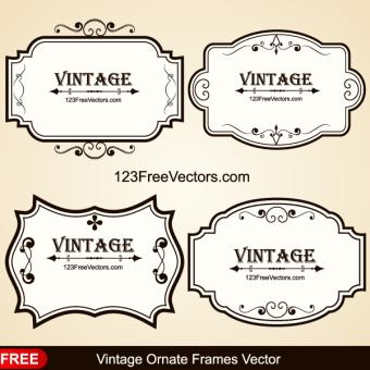 340x340 Vintage Border Vector Free Vectors Download Free Vector Art
