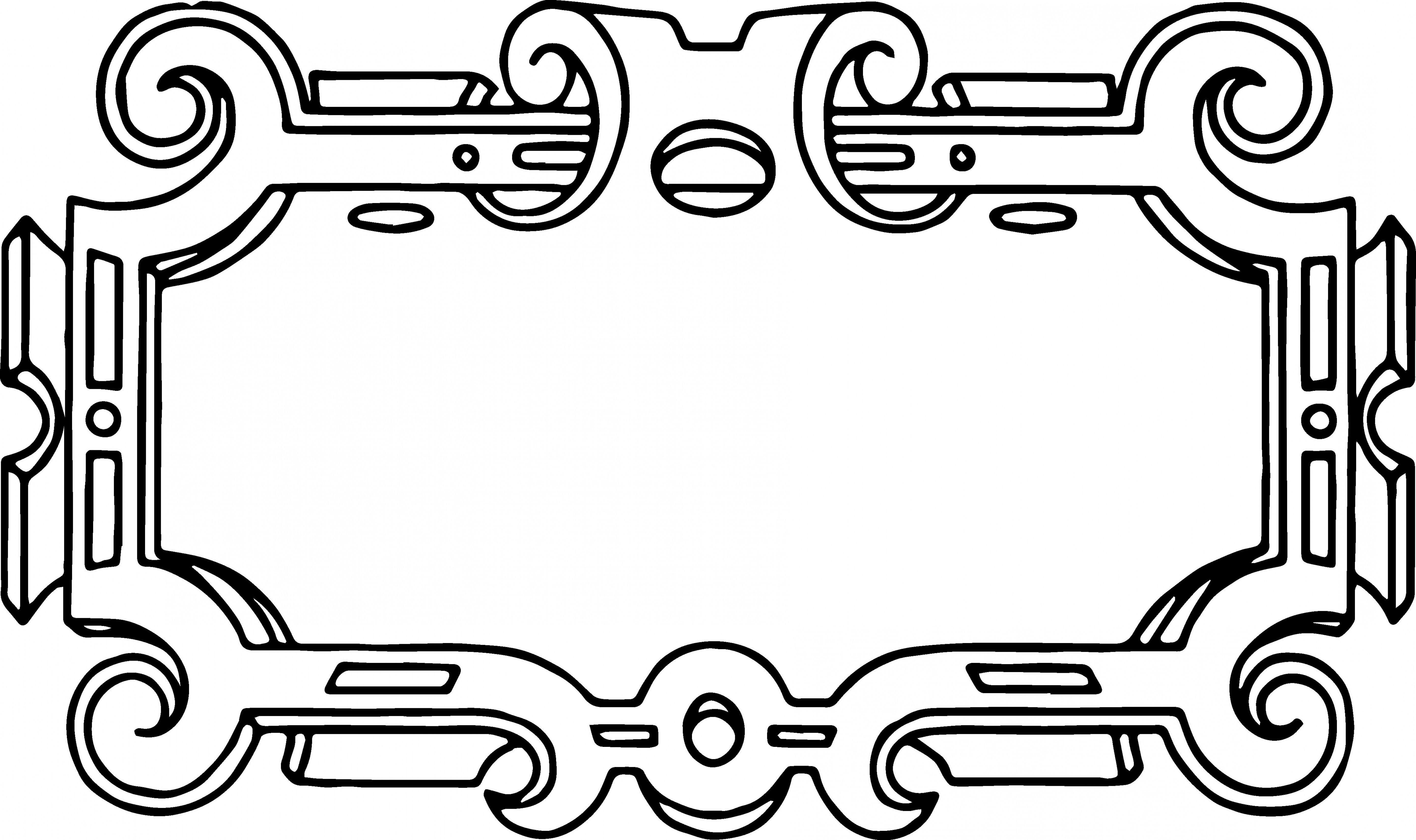 5564x3301 Free Vector Ornate Frame Border Clip Art Image Shopatcloth