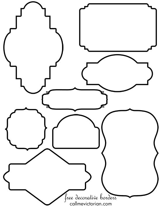 550x712 Free Vintage Border Frames Clipart You Can Use For Designing