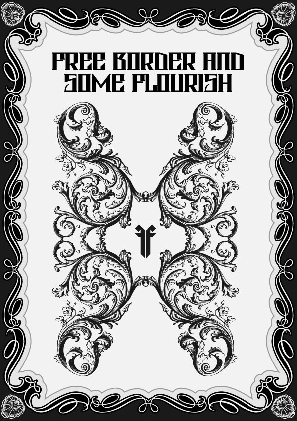 600x849 Massive Collection Of Vintage Vector Graphics Floral Borders