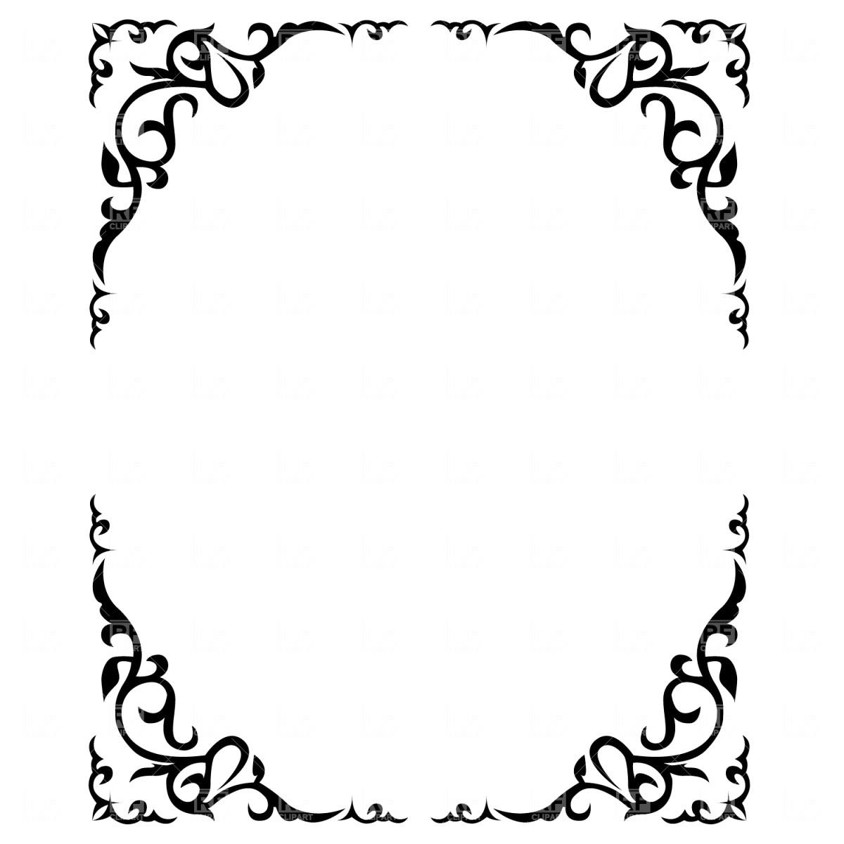 1200x1200 Ornate Floral Frame Download Royalty Free Vector File Eps 2496 12