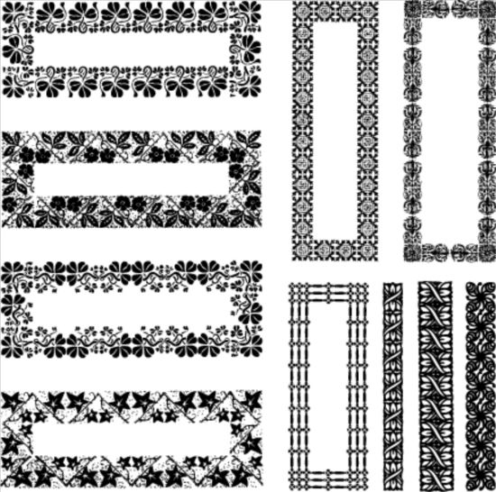 550x546 Rectangle Decor Frame With Border Vector Free Vectors Ui Download