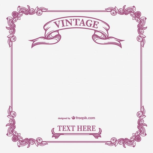 626x626 Vintage Calligraphic Frame Vector Vector Free Download