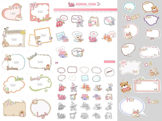 550x414 Fairy Tale Style Border Vector Free Download