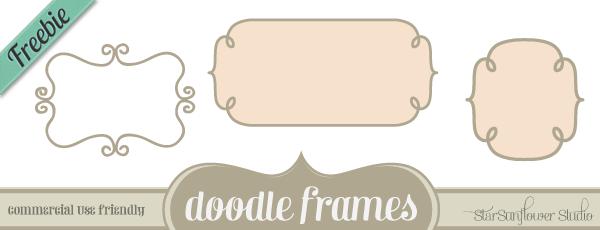 600x230 Free Doodle Frames Custom Shapes, Brushes, Vectors Amp Png Clipart