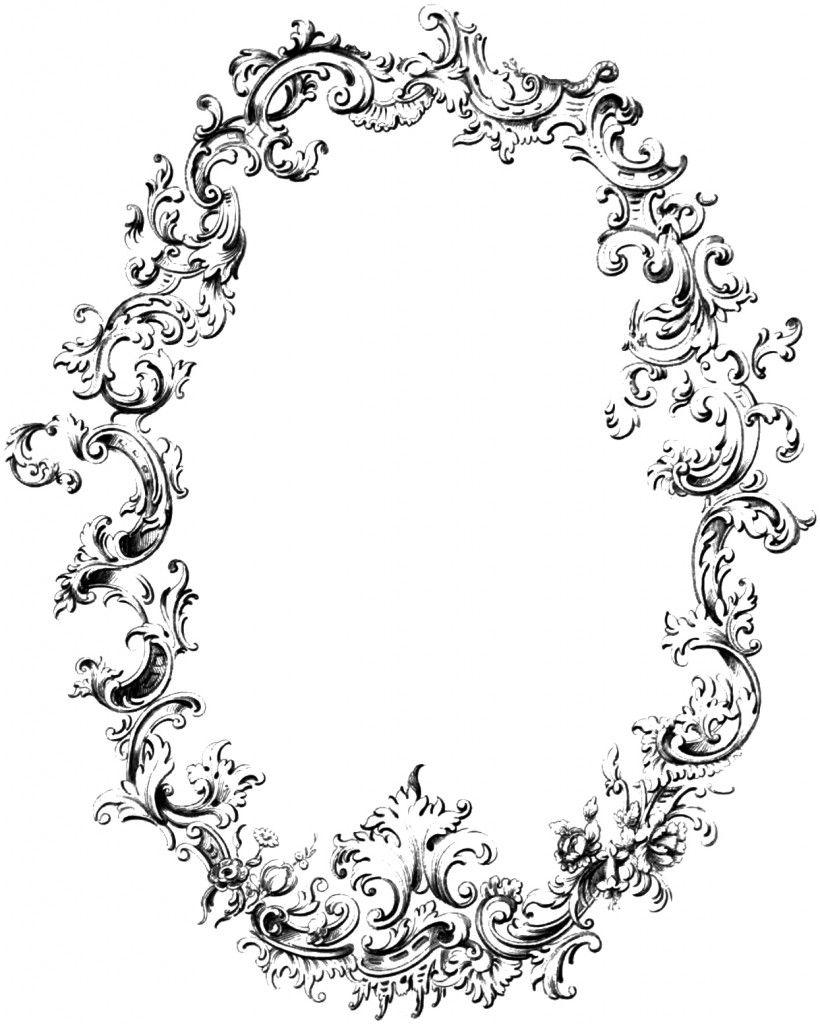 820x1024 Free Fancy Frame Vintage Clip Art Image Sb Mini Books Amp Etc