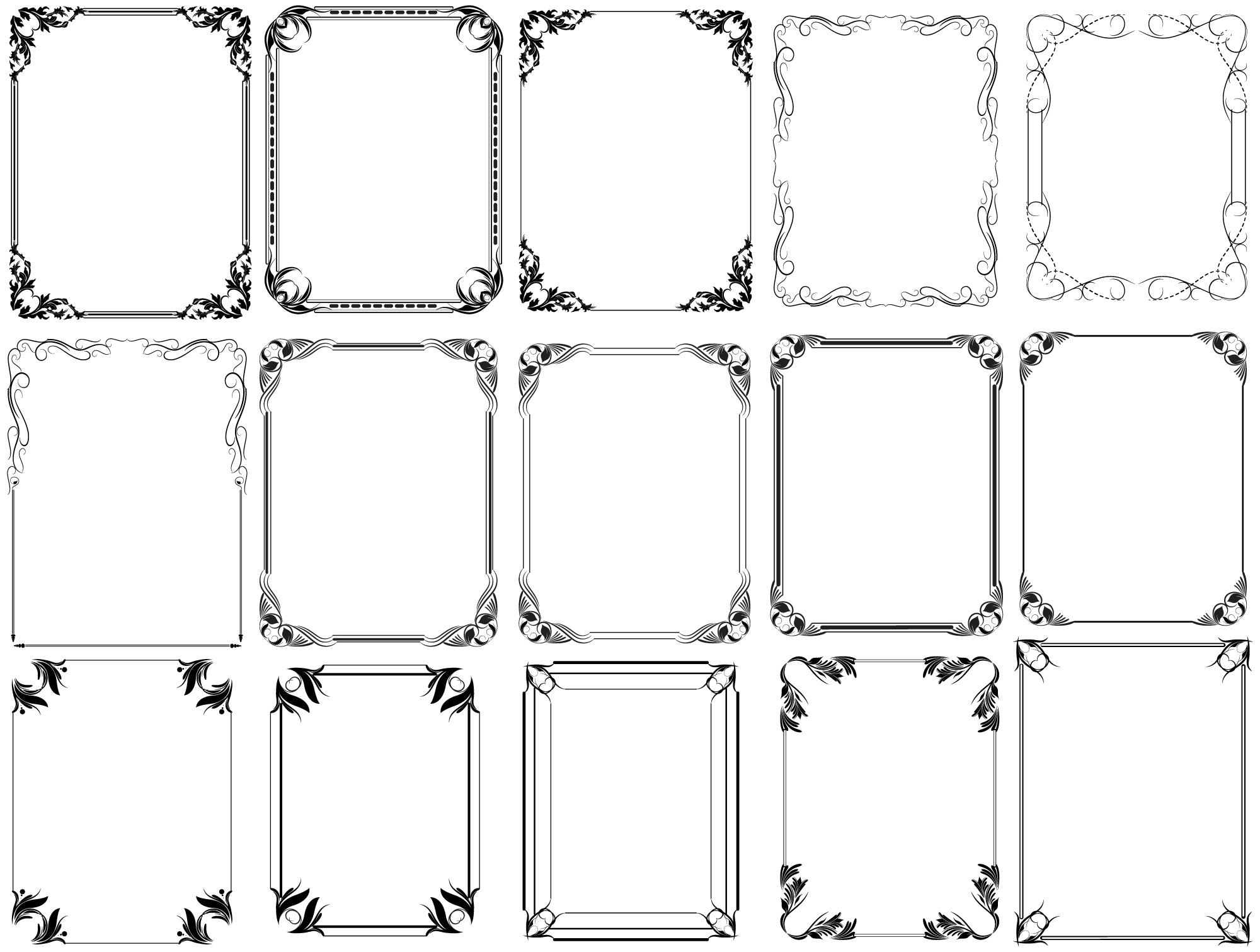 2000x1511 Free Photoshop Vintage Frames Brushes, Shapes, Png, Pictures And