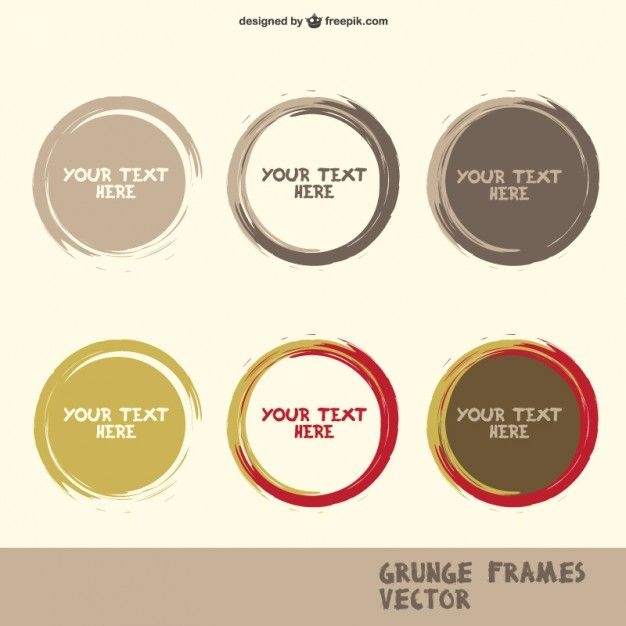 626x626 Free Set Of Round Paint Shapes Free Vector Frame