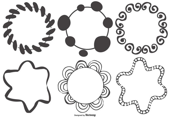 700x490 Messy Hand Drawn Frame Shapes Collection