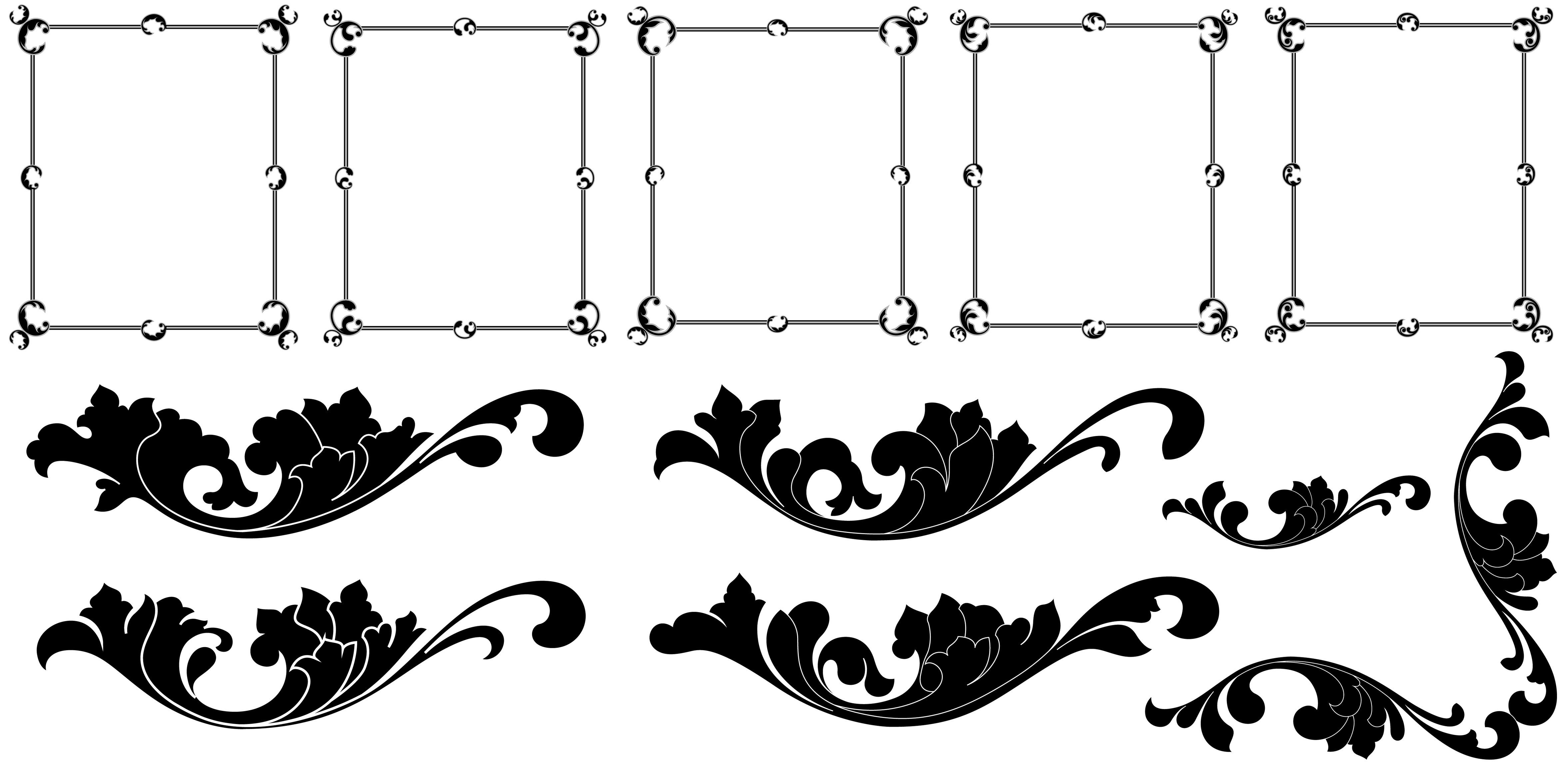 4707x2300 Picture Frame Shapes Vector Framess.co