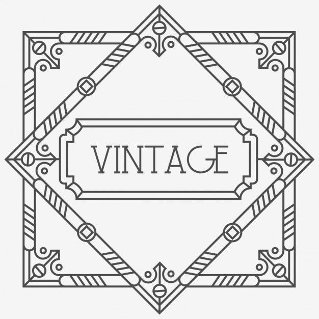 626x626 Art Deco Frame With Geometric Shapes Free Vector Tattoo Ideas