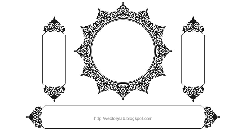 800x449 Vector Ornamental Frames Vol. 1 Vectorylab