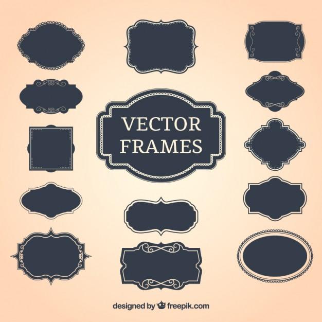 626x626 Vintage Decorative Frames Vector Free Download