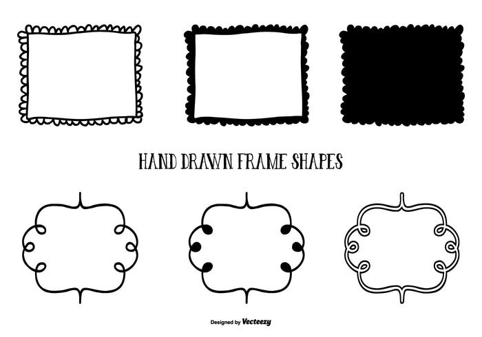 700x490 Cute Hand Drawn Style Frame Shapes
