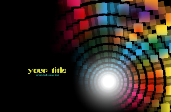 601x395 Color Graphics With Dark Background Vector 03 Free Vector