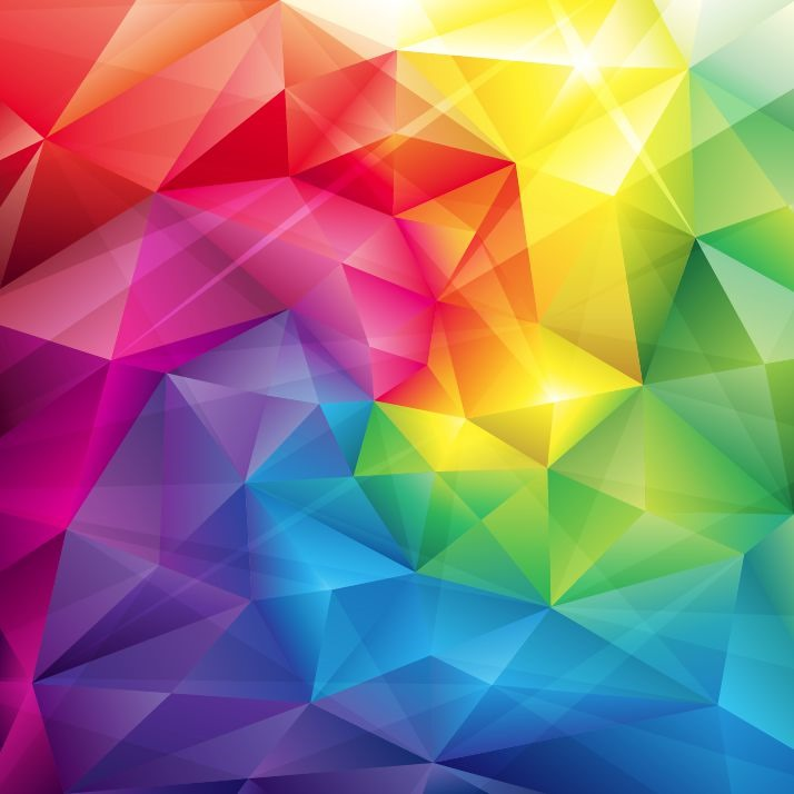 714x714 Low Poly Triangular Trendy Color Vector Background Free Vector