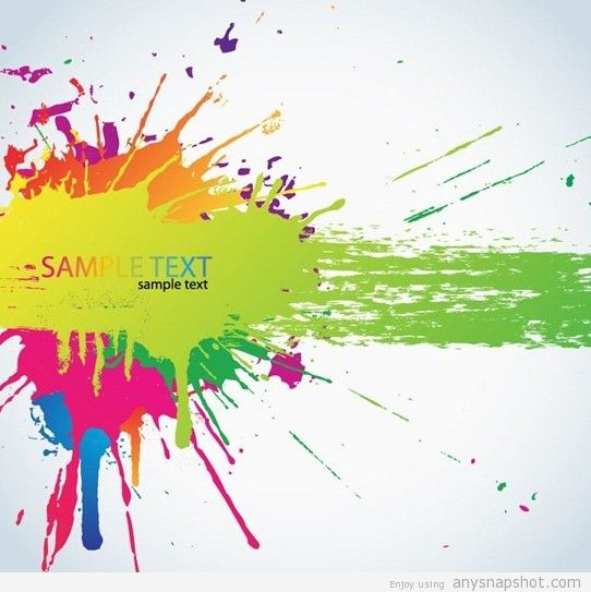 542x543 Splashing And Colorful Paint Splats Vector Background Graphic