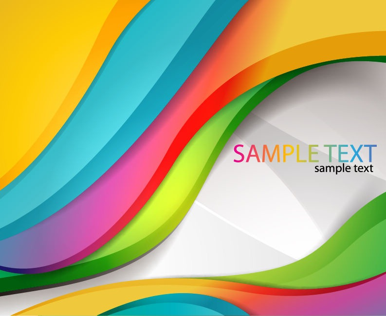 793x650 Abstract Vector Wave Colorful Background Free Vector Eps10