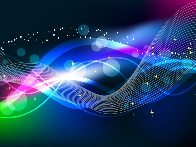 768x576 Abstract Wave Color Light Background Vector Free Vector Graphics