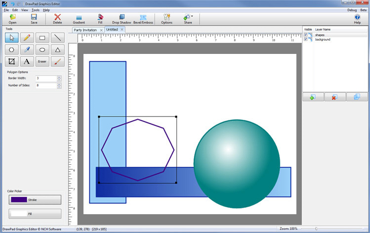 749x471 First Look Drawpad Graphics Editor