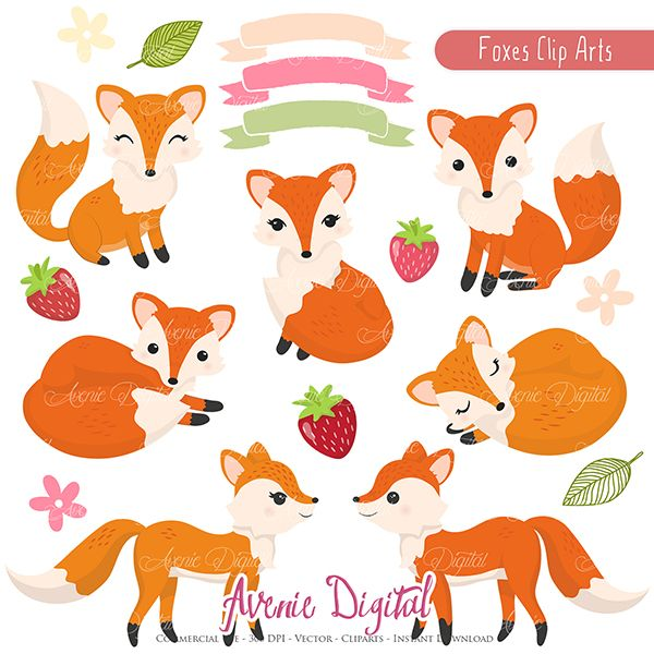 600x600 Free Vector Clipart For Commercial Use Cute Fox Clipart Scrapbook