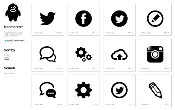 580x365 Clean And Nicely Designed Vector Icons For Free Web