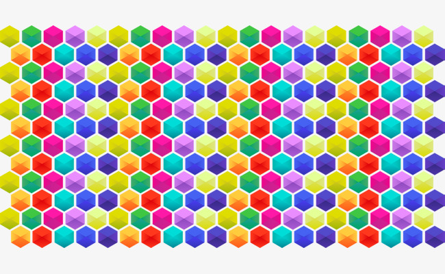 650x400 Colorful Cellular Grid Vector, Grid Vector, Color, Honeycomb Png