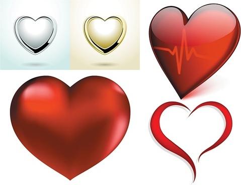 479x368 Free Vector Hearts