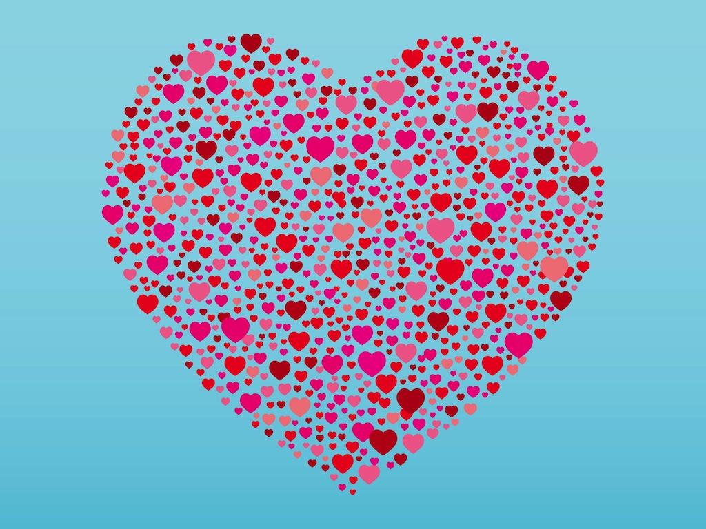 1024x768 Heart Shapes Vector Art Amp Graphics
