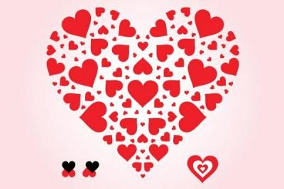 400x267 Heart Of Hearts Vector Awesome Vector Heart Shaped Out Of Little